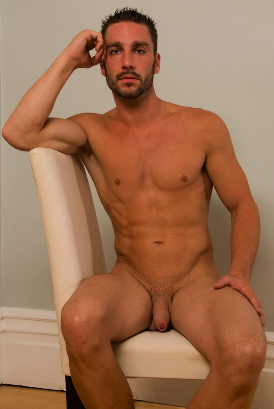 Hot young boy posing naked and jcacking off his uncut