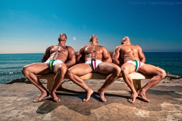 In Spain With Stunning Hunks 4