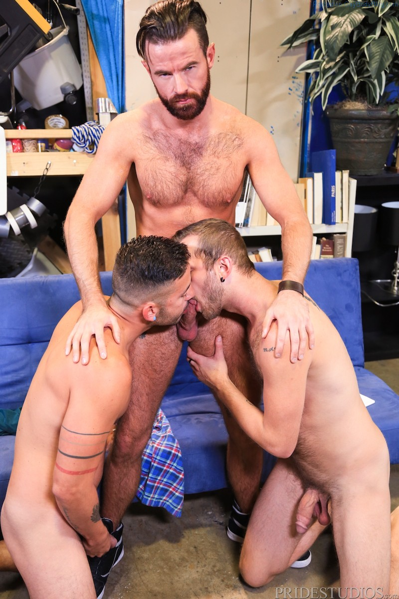 Brendan Patrick Has 3some With Cesar And Chandler Scott