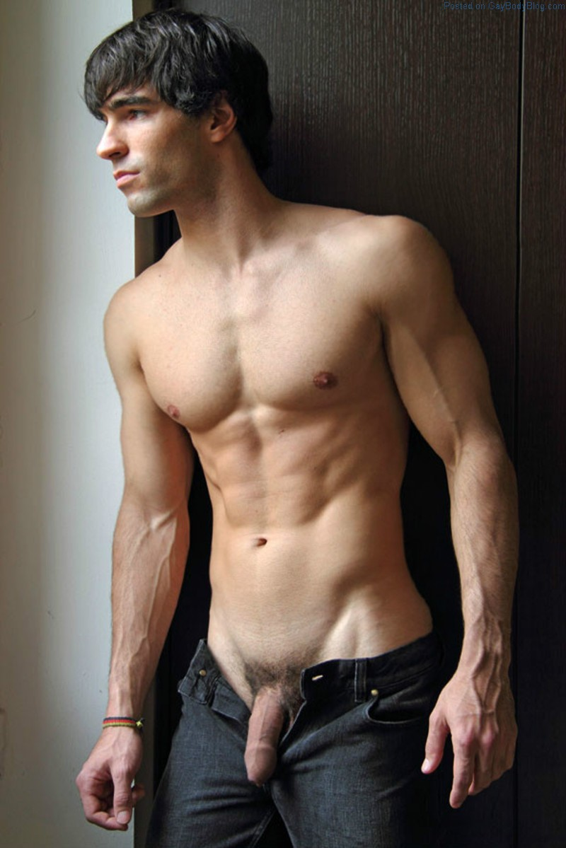 Perfect male body naked