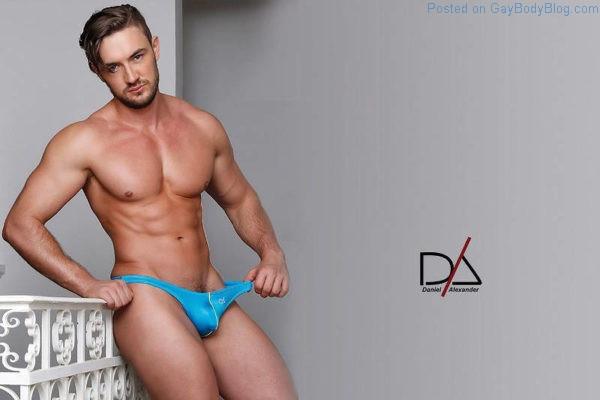 sexy male model in underwear for Daniel Alexander