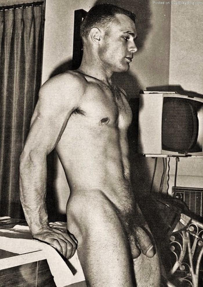 Naked guy penis vintage