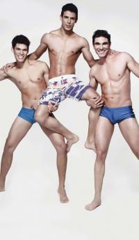 Three Sexy Boys - Wearing Very Little!
