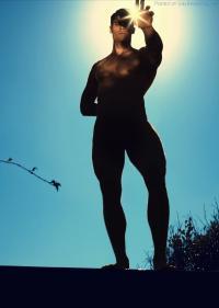 Brian Shimansky in the sun