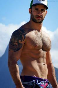Dripping Wet With Hairy Hunk Eliad Cohen
