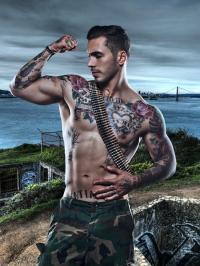 Inked And Muscled Marine Alex Minsky